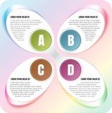 Fondo abstracto del espectro del vector con pasos de ABCD fotografía de archivo