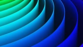 Fondo abstracto del espiral del arco iris 3D