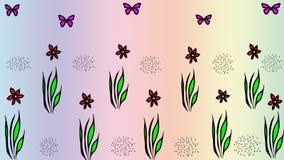 Fondo abstracto del estampado de flores imagenes de archivo