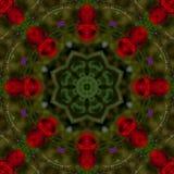 fondo abstracto del estampado de flores de un caleidoscopio Imagen de archivo