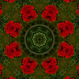 fondo abstracto del estampado de flores de un caleidoscopio Fotografía de archivo libre de regalías