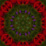 fondo abstracto del estampado de flores de un caleidoscopio Foto de archivo libre de regalías