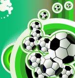 Fondo abstracto del fútbol. Imagenes de archivo