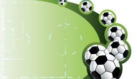 Fondo abstracto del fútbol. Imagen de archivo