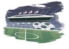 Fondo abstracto del fútbol. Fotos de archivo