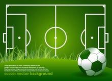 Fondo abstracto del fútbol Fotografía de archivo libre de regalías