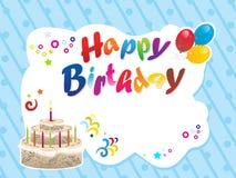 Fondo abstracto del feliz cumpleaños libre illustration