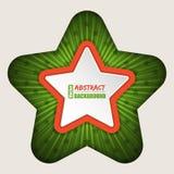 Fondo abstracto del folleto de la estrella Imágenes de archivo libres de regalías