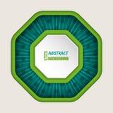 Fondo abstracto del folleto del octágono Foto de archivo libre de regalías