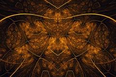 Fondo abstracto del fractal Fondo altamente detallado en tonos anaranjados con los elementos de espirales, de líneas y de modelos imagen de archivo