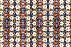 Fondo abstracto del fractal - camomiles y granos foto de archivo libre de regalías