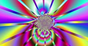 Fondo abstracto del fractal con un modelo de intercambio que remolina detallado y base central en diversos colores vivos brillant stock de ilustración
