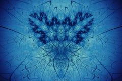 Fondo abstracto del fractal Golowich altamente detallado del fondo y tonos azules con los elementos de espirales, de líneas y de  Fotos de archivo libres de regalías