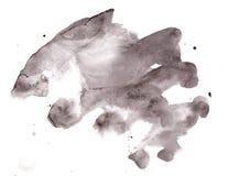 Fondo abstracto del grayscale de la acuarela Textura del Grunge para el coche Imágenes de archivo libres de regalías