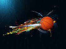 Fondo abstracto del grunge, baloncesto Fotos de archivo