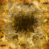 Fondo abstracto del Grunge con los carteles rasgados viejos Imagen de archivo libre de regalías