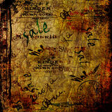 Fondo abstracto del Grunge con los carteles viejos Imágenes de archivo libres de regalías