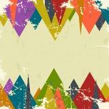 Fondo abstracto del grunge con los triángulos Vector ilustración del vector