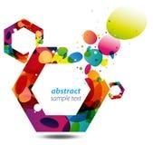 Fondo abstracto del hexágono Foto de archivo libre de regalías