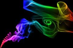 Fondo abstracto del humo del color imagen de archivo