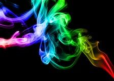Fondo abstracto del humo del arco iris Imágenes de archivo libres de regalías