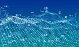 Fondo abstracto del infographics del análisis Algoritmos del análisis del diagrama Datos grandes Ilustración del vector libre illustration