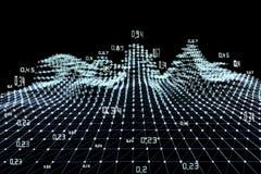 Fondo abstracto del infographics del an?lisis Datos grandes Algoritmos del an?lisis del diagrama Ilustraci?n del vector ilustración del vector