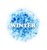 Fondo abstracto del invierno con los copos de nieve del sistema Foto de archivo