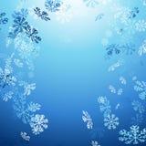 Fondo abstracto del invierno de la nieve que cae Fotos de archivo libres de regalías