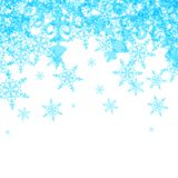 Fondo abstracto del invierno del vector del azul Imagenes de archivo