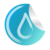 fondo abstracto del logotipo del eco de la etiqueta engomada del descenso del agua del vector Imágenes de archivo libres de regalías