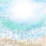 Fondo abstracto del mar con los elementos geométricos Fotos de archivo libres de regalías