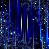 Fondo abstracto del marco de la flora de la raya azul Imagen de archivo libre de regalías