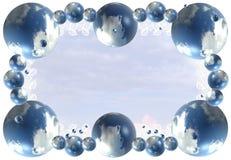 Fondo abstracto del marco de la nube Foto de archivo libre de regalías