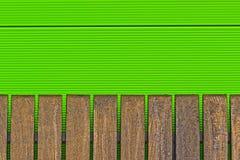 Fondo abstracto del metal y de la madera Fotografía de archivo