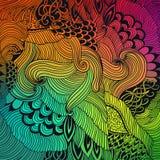 Fondo abstracto del modelo con el ornamento de las ondas Ejemplo del drenaje de la mano, zentangle del libro de colorear Adorno d libre illustration