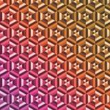 Fondo abstracto del modelo del hexágono Imagen de archivo libre de regalías