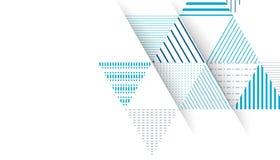 Fondo abstracto del modelo del triángulo stock de ilustración