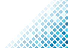Fondo abstracto del mosaico de los cuadrados geométricos azules stock de ilustración