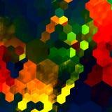 Fondo abstracto del mosaico Modelo caótico colorido azulverde rojo Gama de colores de color Art Design gráfico Arco iris y maripo Fotografía de archivo libre de regalías
