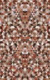 Fondo abstracto del mosaico Tarjetas geométricas del fondo del triángulo Foto de archivo