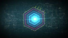 Fondo abstracto del movimiento audio del espectro de Digitaces