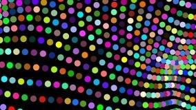 Fondo abstracto del movimiento, luces brillantes, ondas y partículas, lazo inconsútil de la energía capaz stock de ilustración