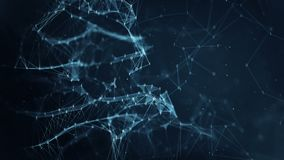 Fondo abstracto del movimiento - redes de datos binarias digitales del plexo ilustración del vector