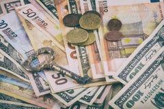 Fondo abstracto del negocio, alegoría - de abrir el negocio de llavero, cuenta bancaria de abertura fotos de archivo