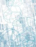 Fondo abstracto del negocio con las cartas ilustración del vector