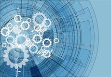 Fondo abstracto del negocio de la tecnología de la calculadora numérica del engranaje