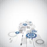 Fondo abstracto del negocio de la tecnología, ejemplo del vector Foto de archivo libre de regalías