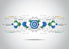 Fondo abstracto del negocio de la tecnología, ejemplo del vector Fotografía de archivo libre de regalías
