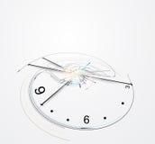 Fondo abstracto del negocio del concepto de la informática del reloj Ilustración del Vector
